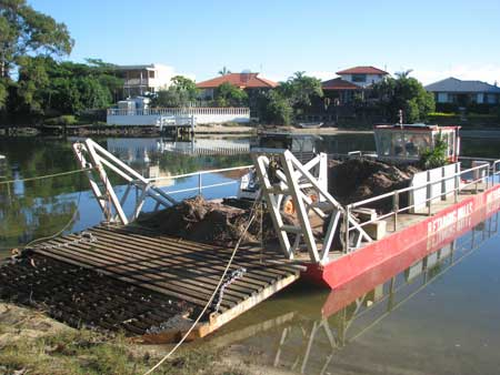 Material Delivery by barge