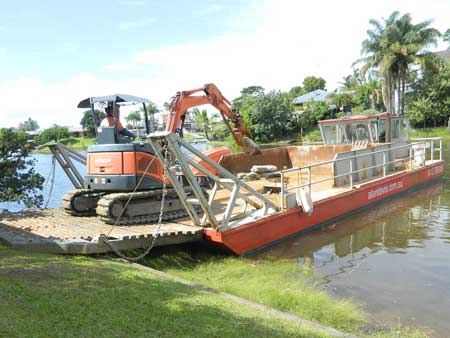 Barge & Excavator